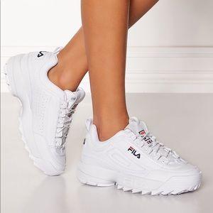 Fila disruptor white sneakers